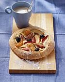 Fruit and quark pizza
