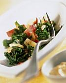 Kale stew with paprika sausage