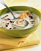 Creamy scorzonera soup with pumpkin seeds