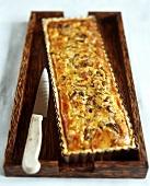Mushroom and mascarpone tart