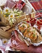 Sandwich loaf (Filled white loaf for picnic or garden party)