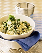 Spinach risotto with blue cheese