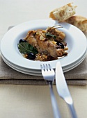 Coniglio alla contadina (rabbit with pine nuts & olives)