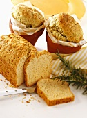 Spelt tin loaf and herb bread (baked without milk or eggs)