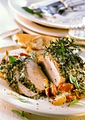 French roast pork with herbs
