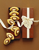 Flaked almonds in gift box