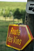 Signpost to the Bergerac, Bordeaux wine region
