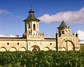 Weinkeller-Gebäude vom Chateau Cos d' Estornel, Medoc