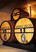 Large wine barrels at Piper's Brook Winery, Tasmania