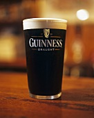 A Guinness from Ireland in a pint glass