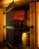 Entrance to wine cellar of DeLille Winery, Washington, USA