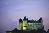 Chateau de Saumur at night, Maine-et-Loire, France