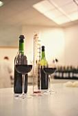 Wine-testing in Michel Rolland's laboratory, Pomerol, France