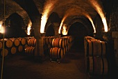 Barrels stored in wine cellar of Bouchard Pere et Fils, Burgundy