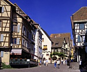 View of Grand'Rue, the main street of Riquewihr, Alsace
