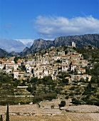 The village of Vieussan in Orb Valley, Herault, France
