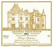 Label of 1993 Haut-Brion, Pessac Léognan, Bordeaux