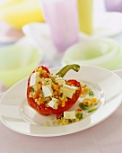 Red pepper with bulgur and sheep's cheese stuffing