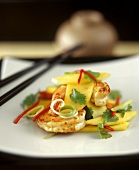 Shrimp and mango salad with coriander
