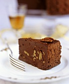 A Piece of Chocolate Pecan Cake