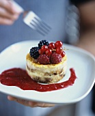 Bread & Butter Pudding with Berries