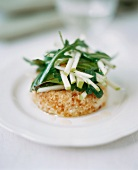 Jerusalem artichoke mousse, served with rocket & apple salad