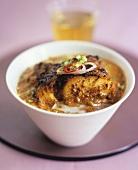 Tandoori fish masala (fish in Indian masala sauce)