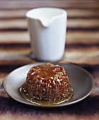 English treacle sponge pudding