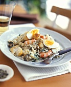 Kedgeree (rice with seafood and eggs; England)