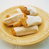 Tamales (stuffed maize leaves, popular in South America)