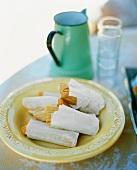 Tamales (Gefüllte Maisblätter, beliebt in ganz Südamerika)