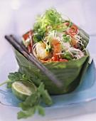 Glass noodle salad with shrimps