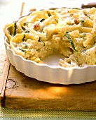 Macaroni bake with courgettes