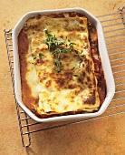 Lasagne al forno (classic baked pasta dish, Italy)