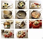 Gefülltes Gemüse zubereiten