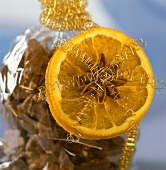 Christmas decoration made from dried orange slice & star anise