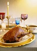 Festive roast duck