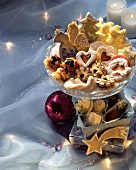 Assorted Christmas biscuits and chocolates