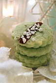 Pistachio biscuits for Christmas