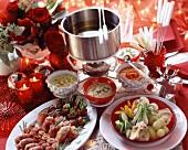 Christmas fondue for all the family