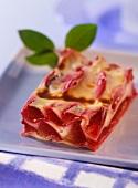A piece of sweet plum lasagne