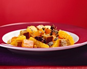 Sweet and sour pumpkin and orange ragout