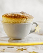 Quark souffle, served in a cup
