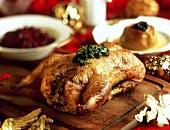 Stuffed roast duck for Christmas