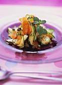 Marinated vegetable carpaccio