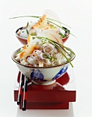 Glass noodle and herring salad