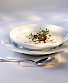 Chestnut foam soup