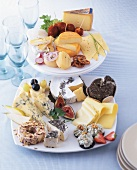 International cheese platter & savoury cheese plate for buffet