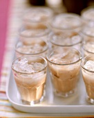 Ice-cold home-made chocolate liqueur