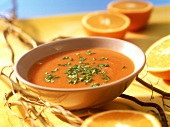 Caribbean orange and tomato soup
